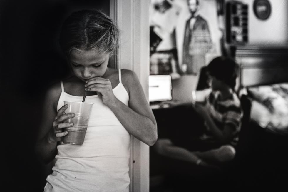 kids eating milkshakes