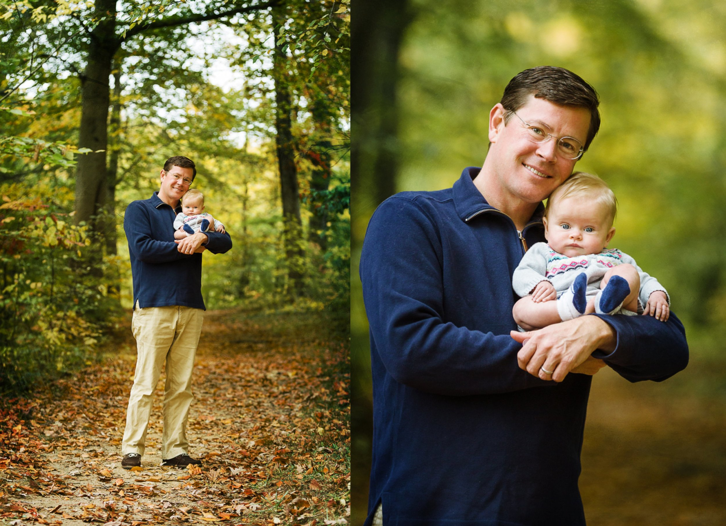 handsome father with his beautiful baby girl in a park