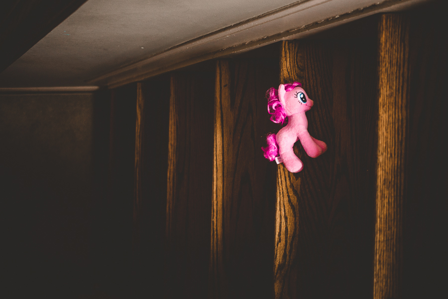 Pony on Stairs by Rebecca Wyatt Photography