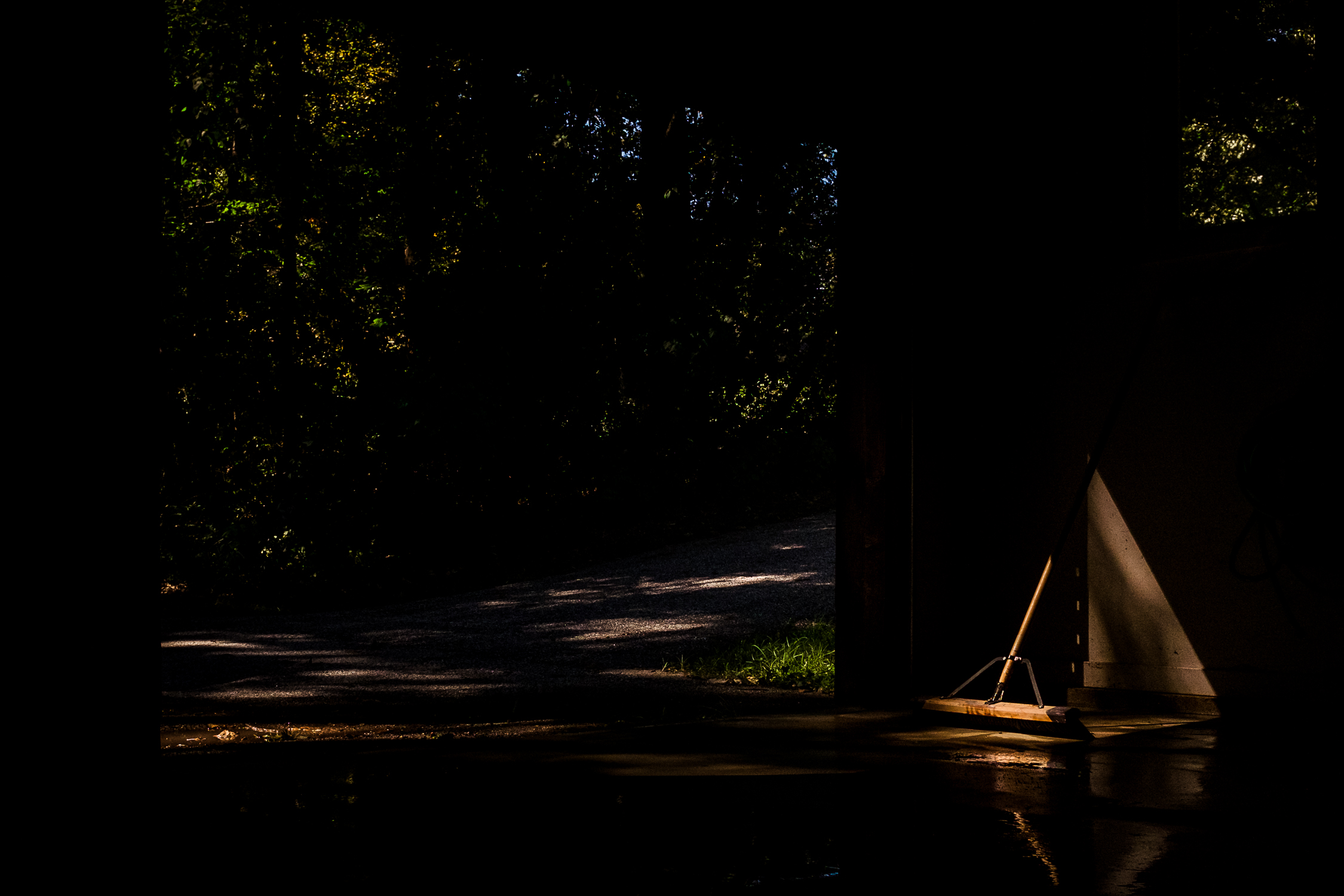 Boom in natural light in garage.