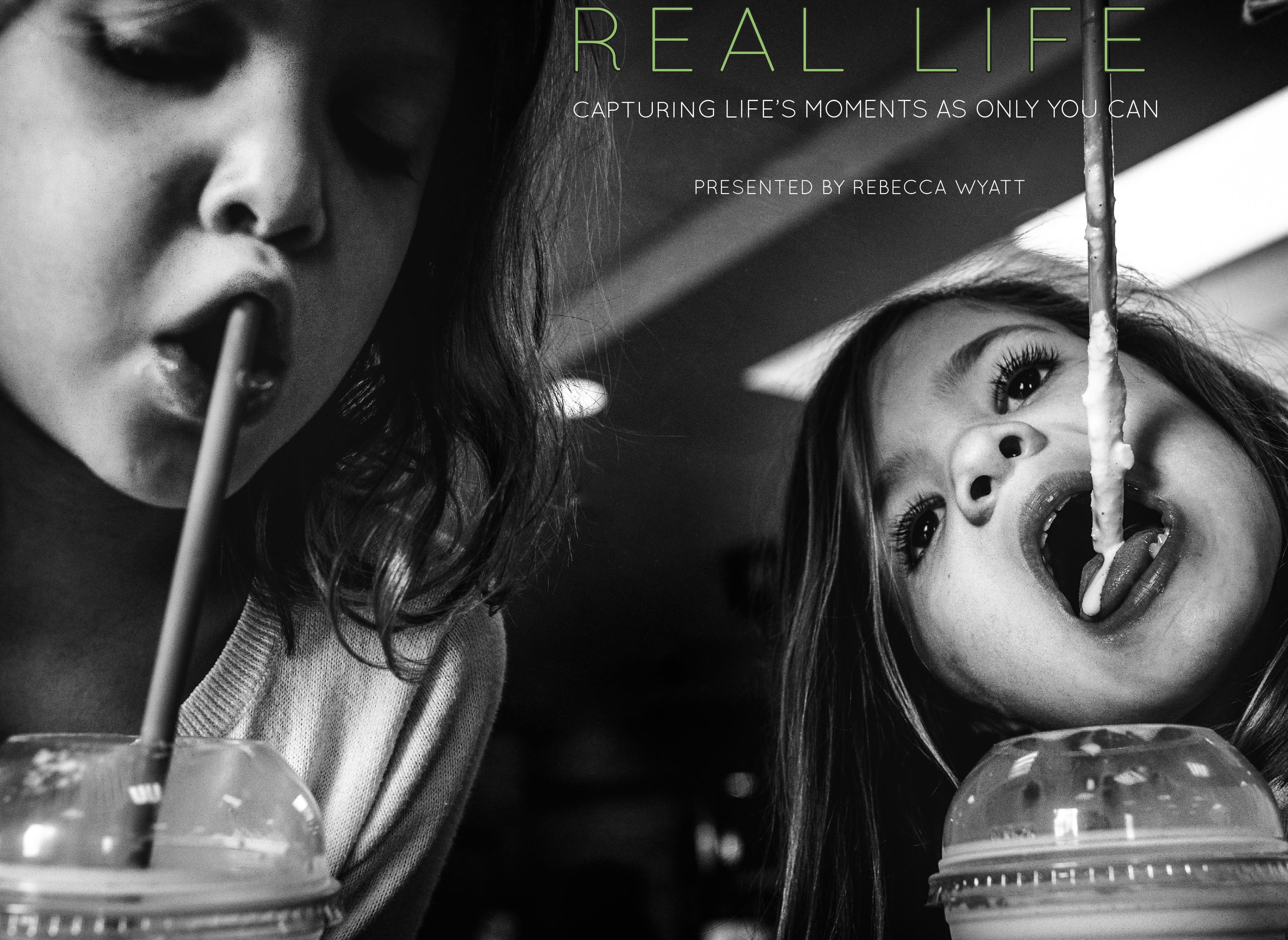 "REAL LIFE: CAPTURING LIFE'S MOMENTS AS ONLY YOU CAN - Go behind the scenes to find out how I uncovered my deepest reasons for shooting & the elements that make ""real life"" images extraordinary. You'll learn how I capture daily life at any time of day, manage challenging lighting situations, and compose for maximum impact without directing or interfering with my subjects. Discover how to bring your vision to the decisive moments of your life and gain the confidence and ability to create the photographs you alone were born to make.Includes a 220 page ebook, shooting and editing videos, bonus pdfs and Q&A.Please contact me to purchase.$35"