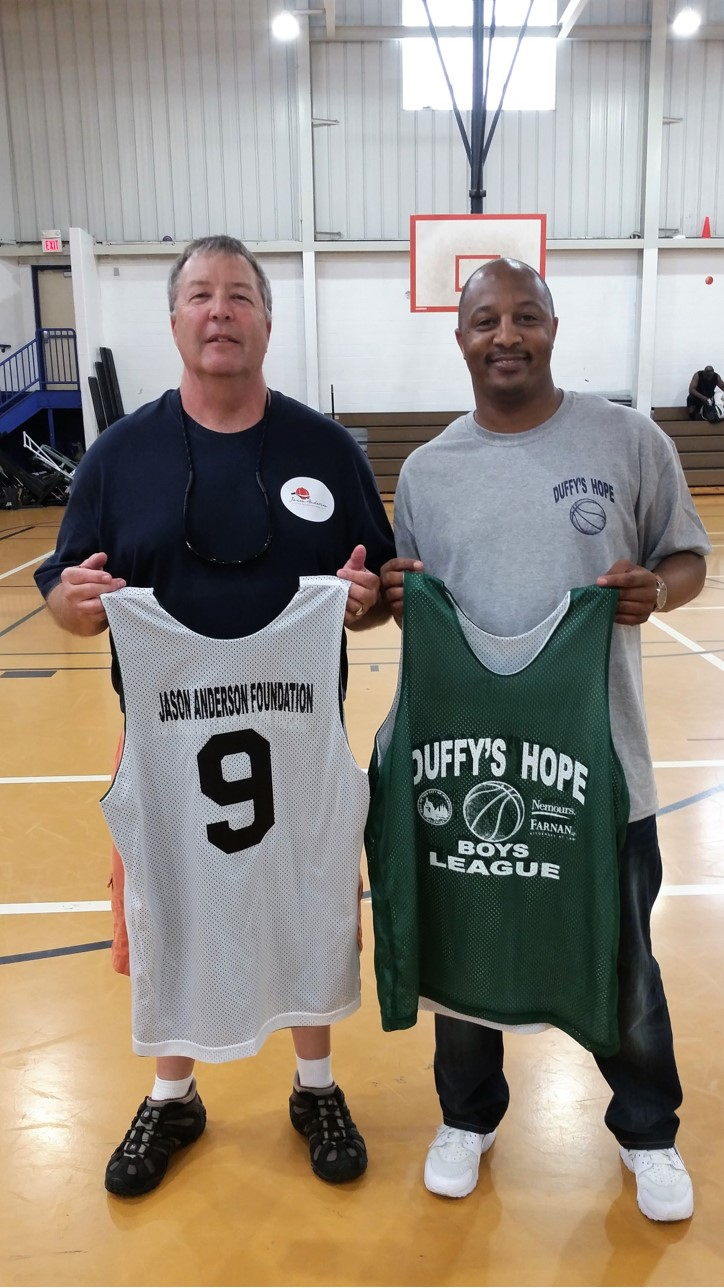 "Foundation President Marc Anderson and Allen ""Duffy"" Samuels, Founder & CEO, Duffy's Hope"
