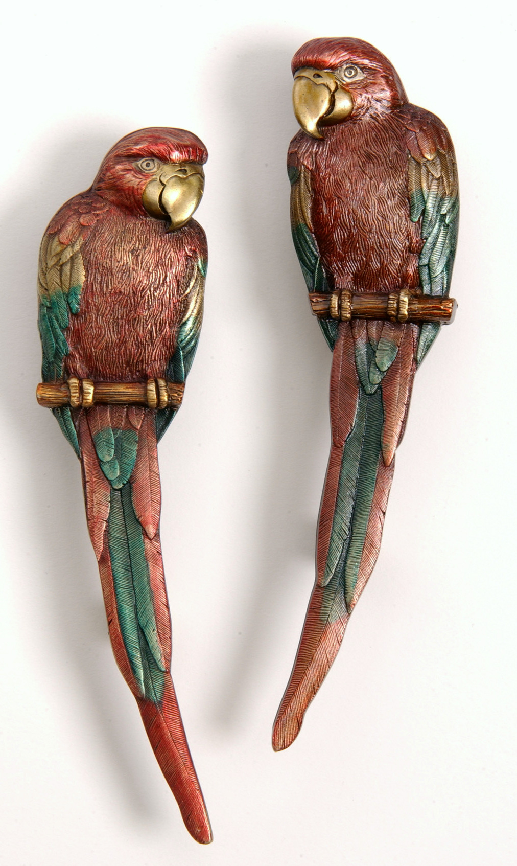 Hand Painted Macaw Pulls NHP-329-BHT-Left, NHP-329-BHT-Right Notting Hill Decorative Hardware.JPG