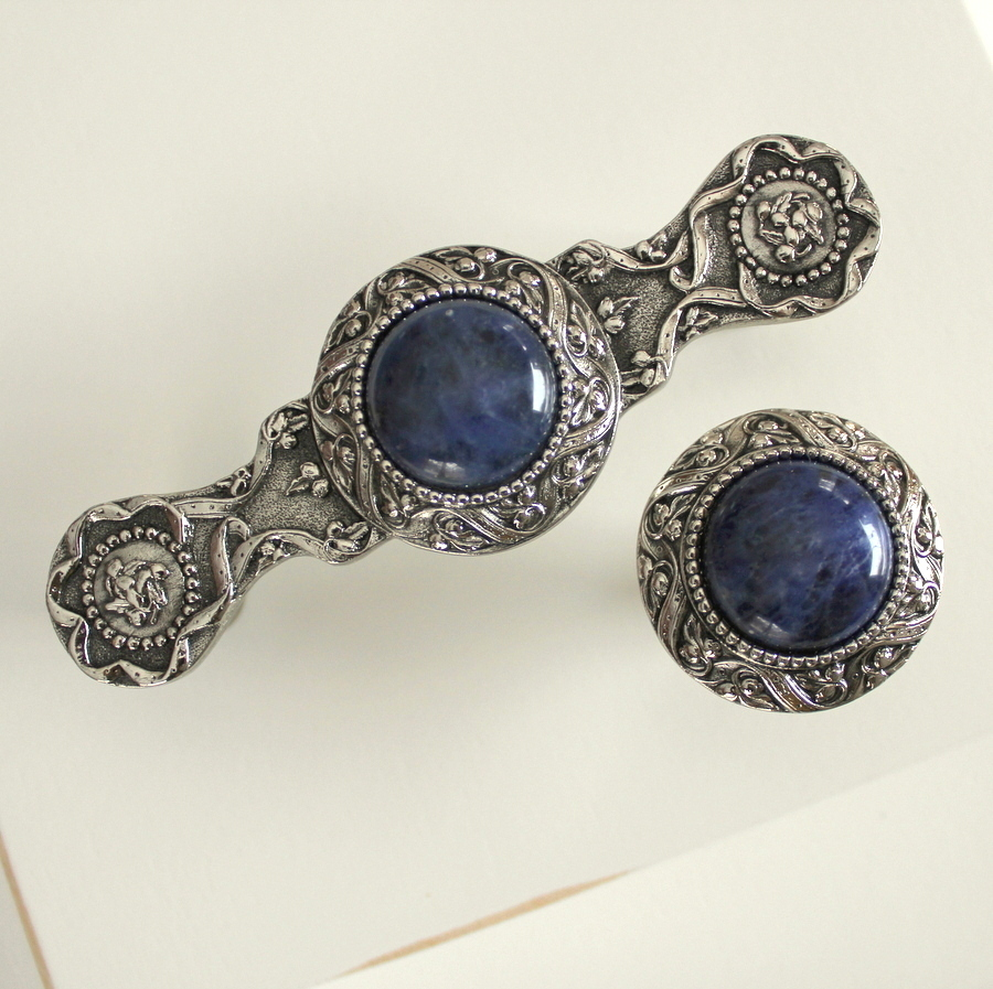 Victorian Jewel Brite Nickel & Sodalite