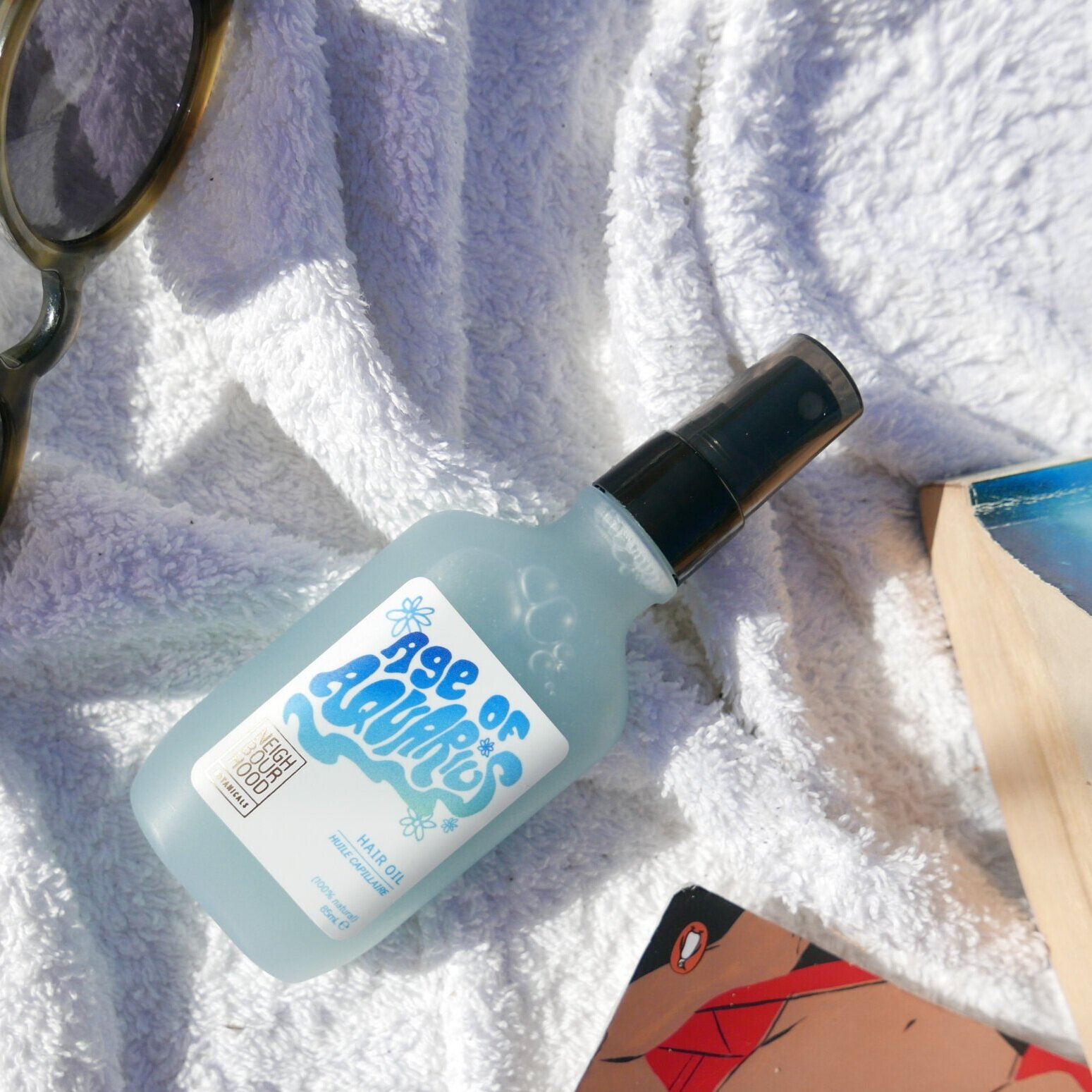 Age Of Aquarius Hair Oil - Ideal for thirsty locks. Let your hair down and the sunshine in <3