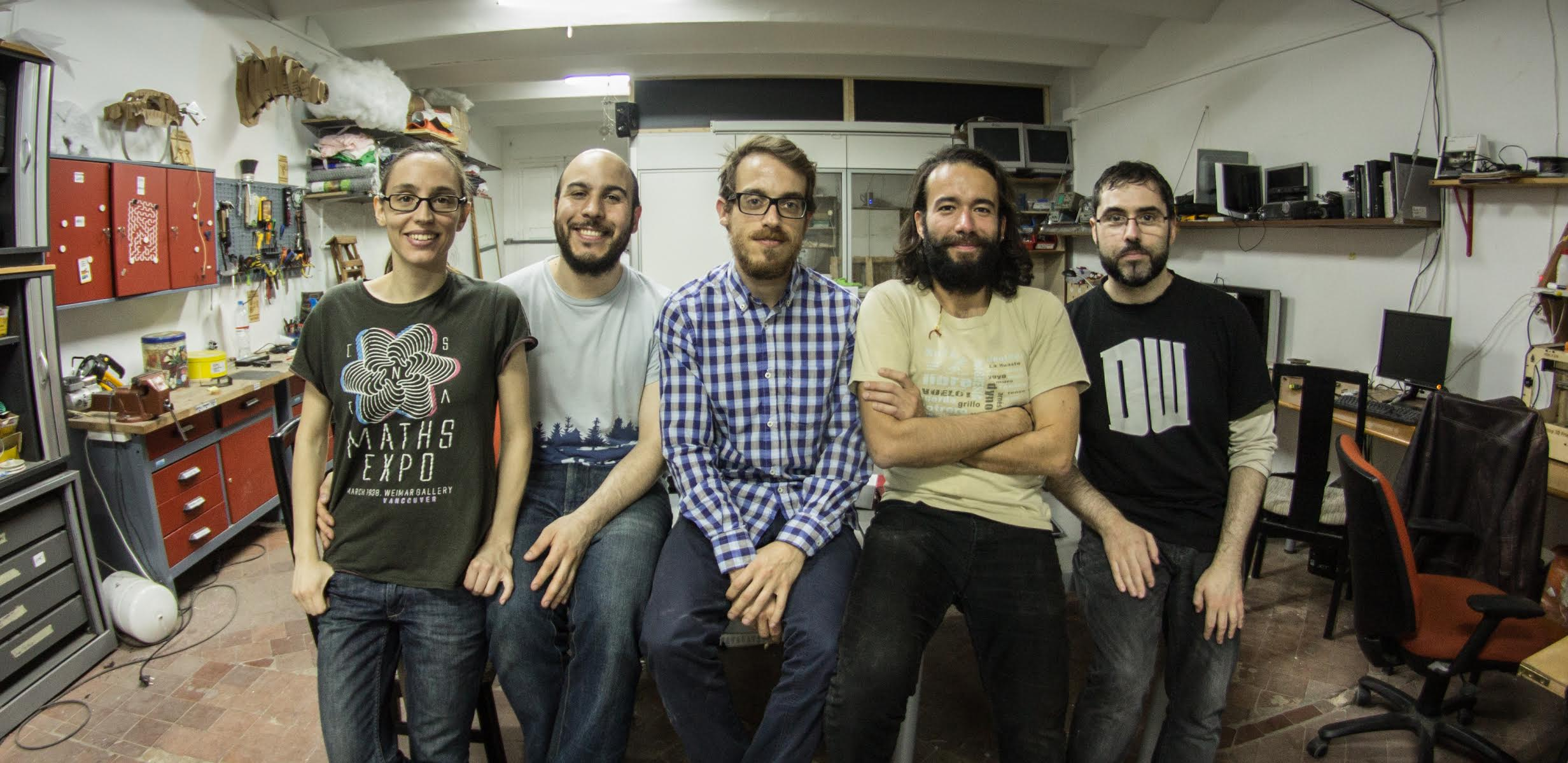 Co - Founders  (from left to right)   Nuria Conde, Esteban Martín, Alvaro Jansà, Daniel Grajales & Oscar Gallardo