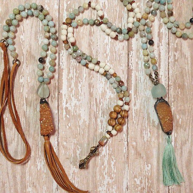 Amazonite stones long necklaces.jpg