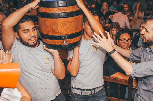 Bring Out The Hofbräu Kegs - Join us for one of our traditional Oktoberfest keg tappings. Once the bier is flowing, everyone at the haus will get a free round of our famous Hofbräu bier!