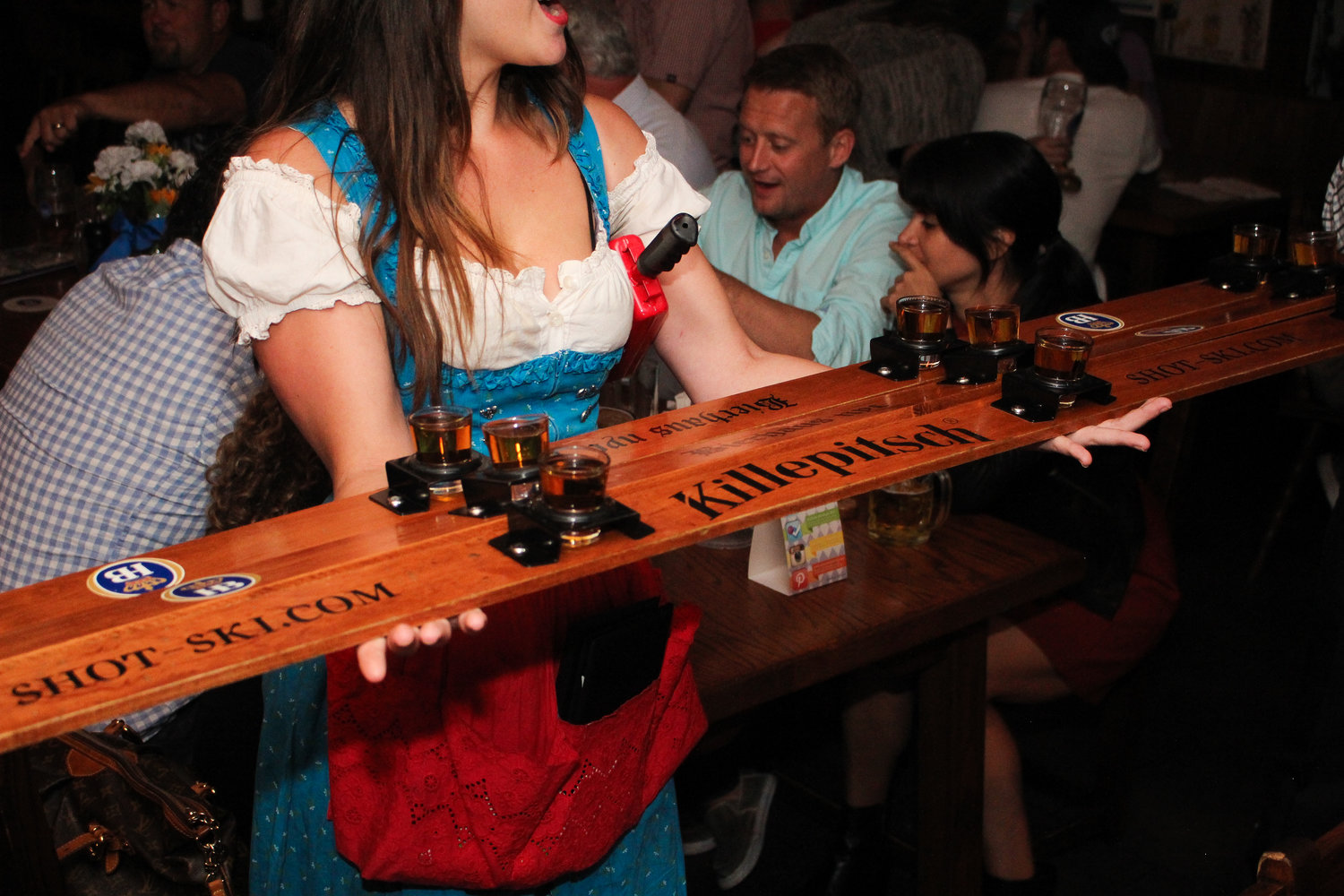 1, 2, 3 Shotski! - At the count of three and the sound of the cow bell, throw back that shotski alongside three of your best buds.
