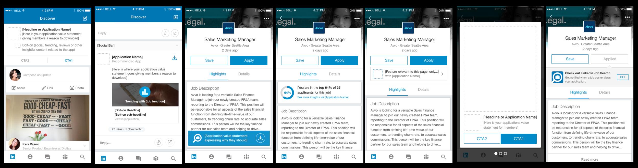 Promotional Framework for LinkedIn apps