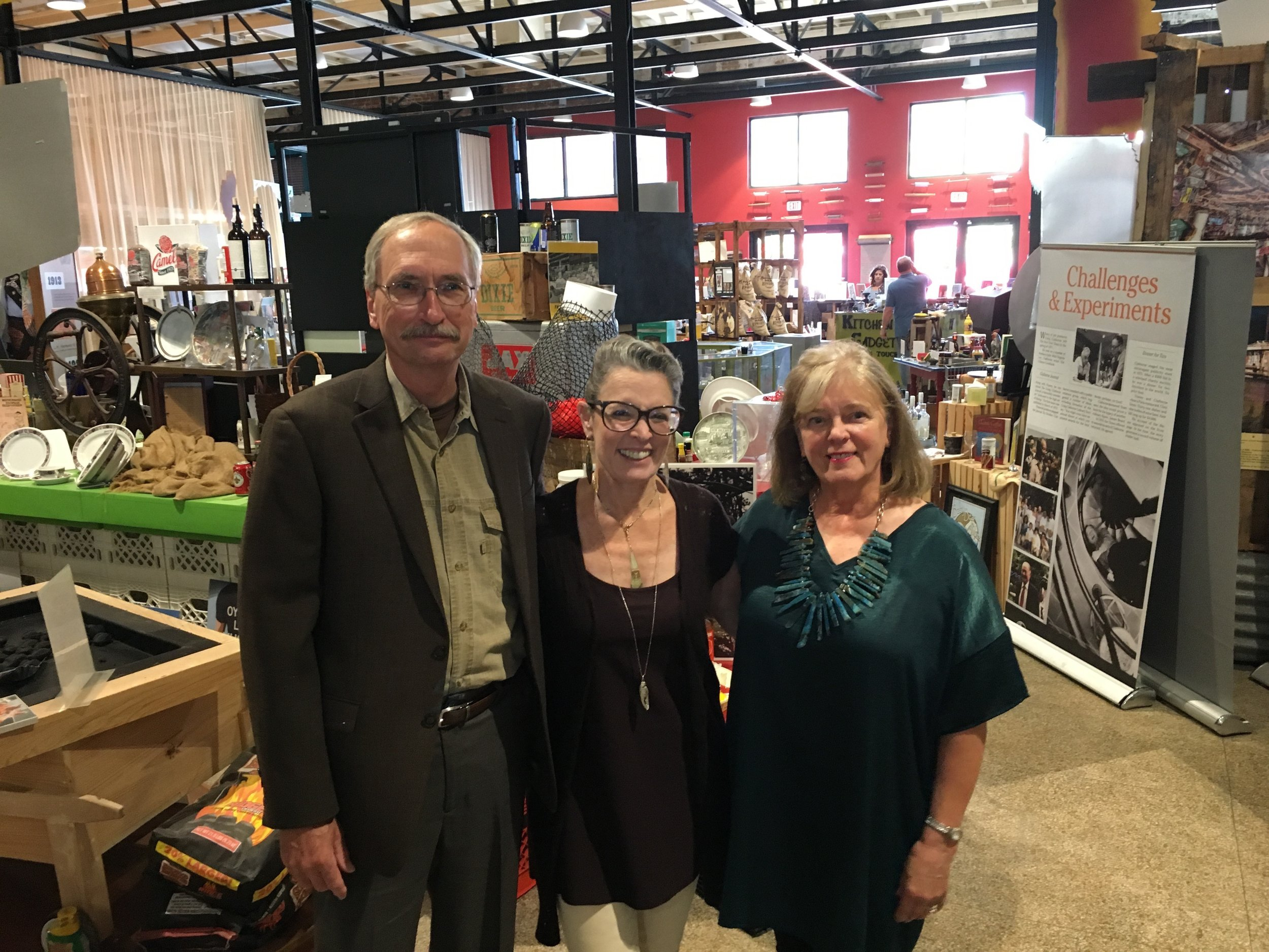 Poppy Tooker with Jim Bruseth and Toni Turner
