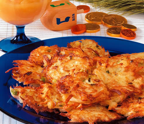 Since they're prepared in hot oil, latkes are often thought of as a perfect way to commemorate the miracle of Chanukah.