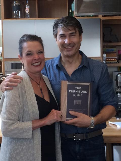 "Poppy and Christophe Pourny, author of ""The Furniture Bible.""   Credit Joe Shriner"