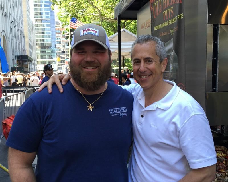 Thibodaux-born Chef Jean-Paul Bourgeois and hospitality guru Danny Meyer at the 2015 Big Apple Barbecue Block Party.    NICOLE SAVITSKY