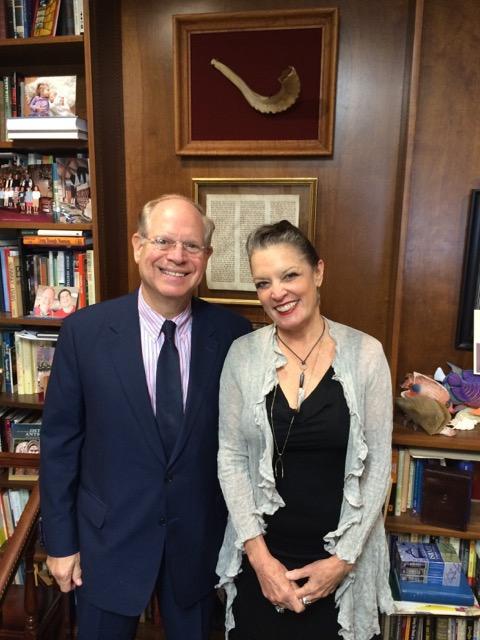 Poppy Tooker and Rabbi Ed Cohn of Temple Sinai   CREDIT JOE SHRINER