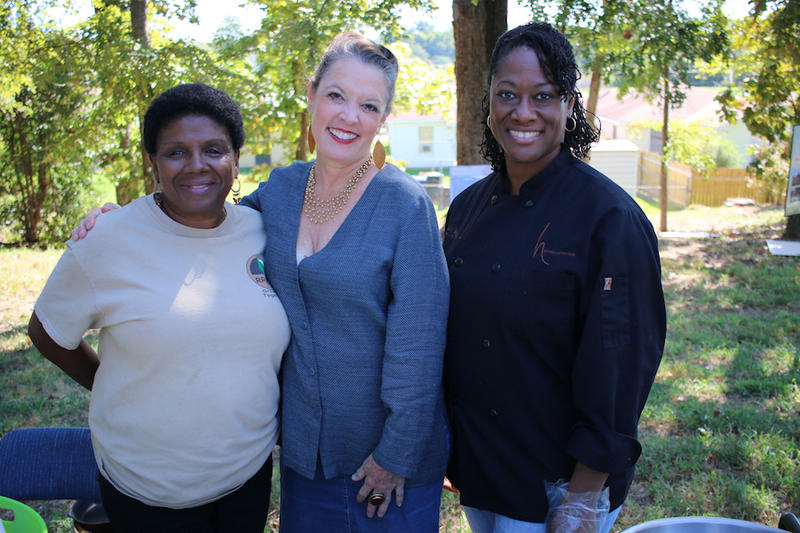 Cookie Coleman, Poppy Tooker and Chef Hardette Harris at the Valencia Youth Garden and Urban Farm, located in Shreveport's Stoner Hill neighborhood    CHRIS JAY