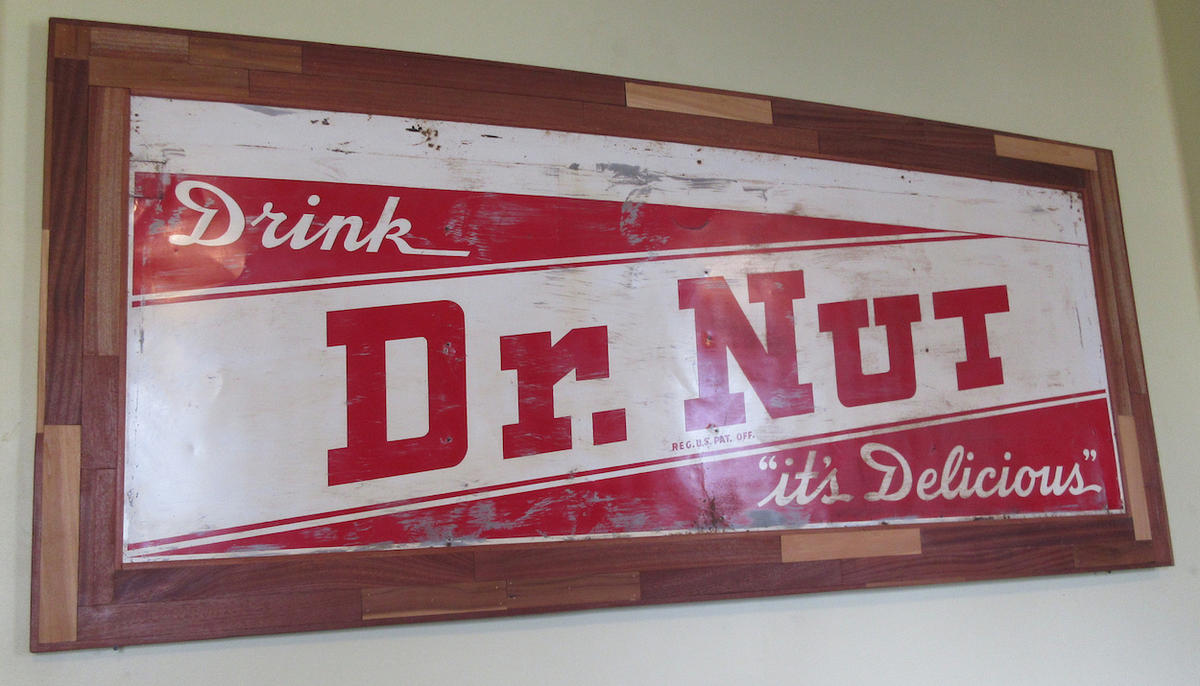 Dr. Nut advertisement from Elizabeth's Restaurant in New Orleans.   CREDIT INFROGMATION OF NEW ORLEANS / FLICKR