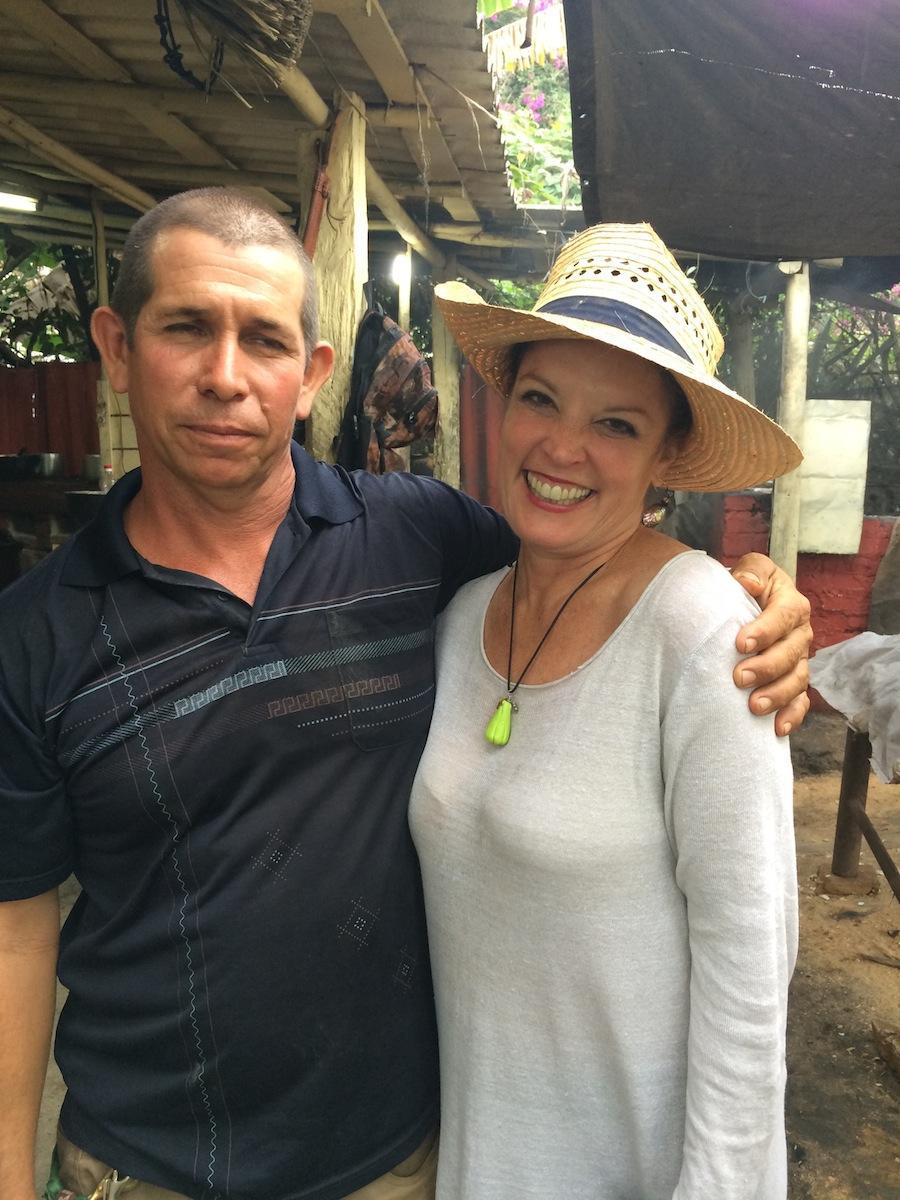 Poppy and organic farmer Wilfredo Garcia.   CREDIT VIVIANA RIVES