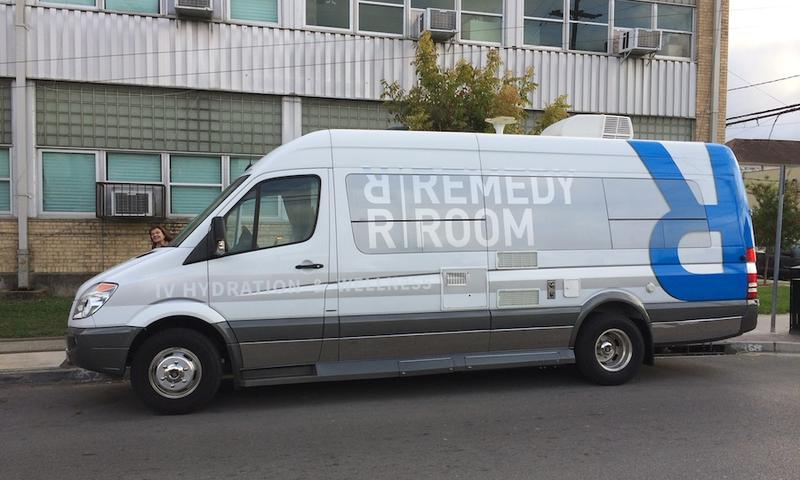 One of The Remedy Room's mobile clinics stationed on a street in New Orleans.    POPPY TOOKER