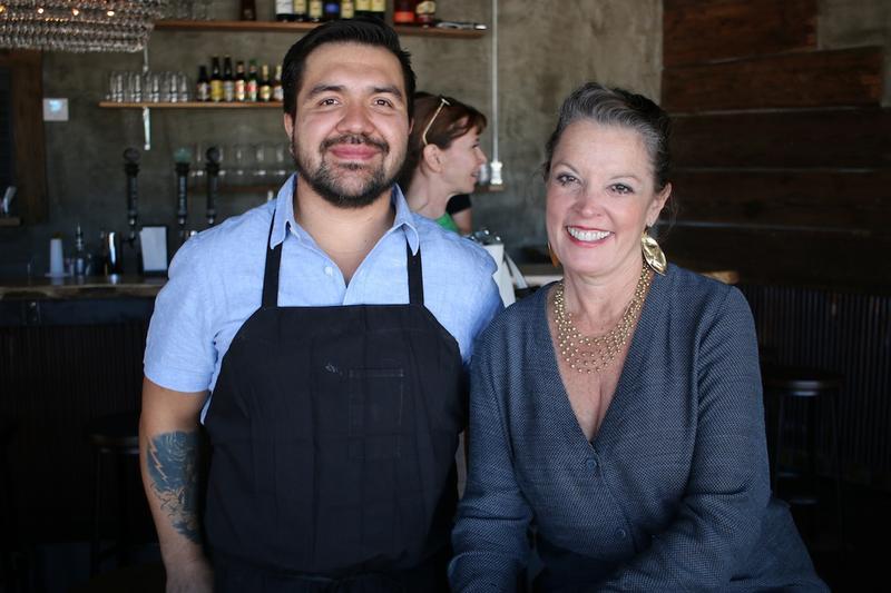 Rodrigo Mondragon and host Poppy Tooker. Rodrigo is co-owner of Ki' Mexico, a Shreveport restaurant he runs with members of his family.    CHRIS JAY