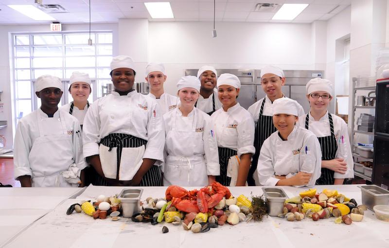 Students participating in NOCCA's Culinary Arts program.    ELIZABETH MCMILLAN
