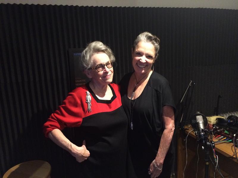 Host Poppy Tooker with JoAnn Clevenger    REGGIE MORRIS