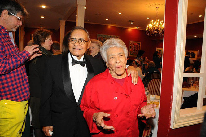 "Edgar ""Dooky"" Chase Jr with Chef Leah Chase"