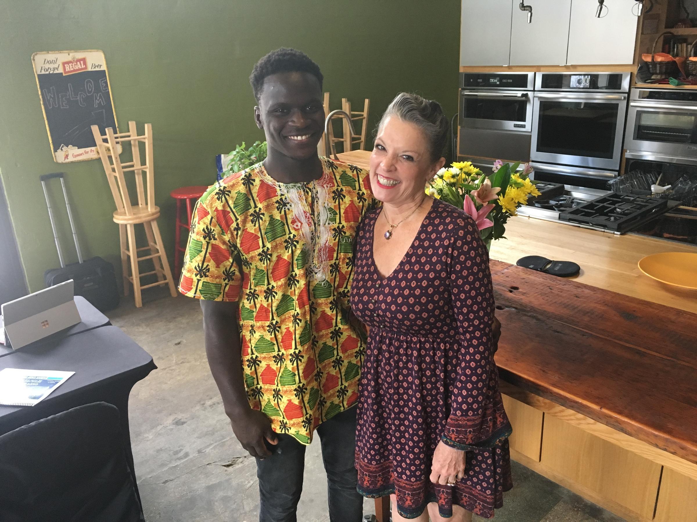 Host Poppy Tooker and Serigne Mbaye    JOE SHRINER/LOUISIANA EATS