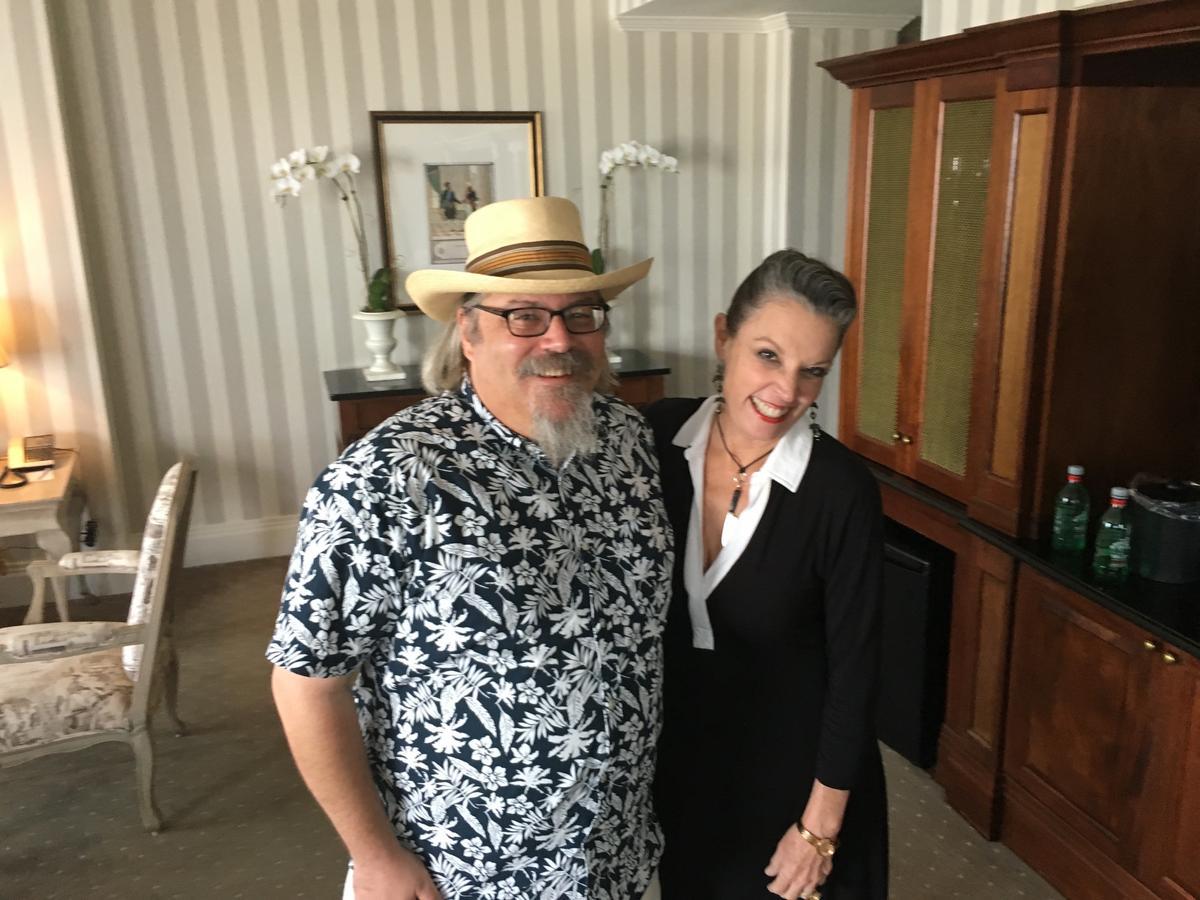 Host Poppy Tooker with Dave Wondrich   Credit Reggie Morris / Louisiana Eats