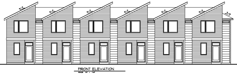 Front Elevation, Units 1-6, Building A