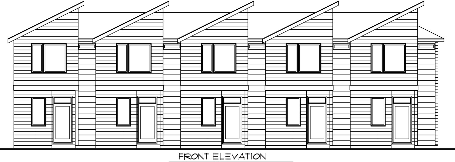 Front Elevation, Units 1-6, Building A