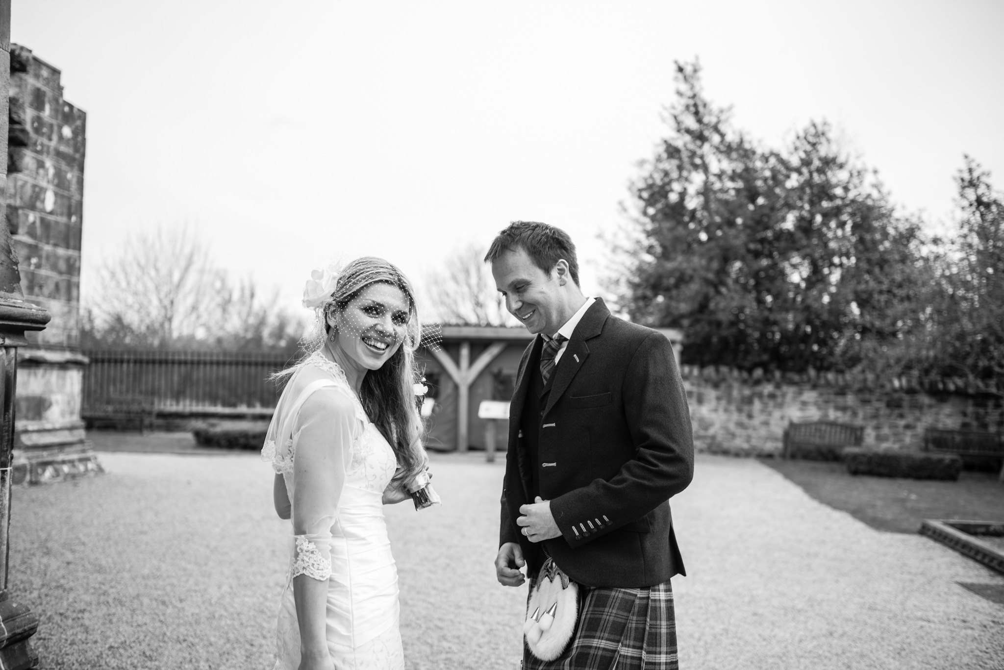 Douglas and Daria's wedding at Rosslyn Chapel - 24 April 2016 - © Photography by Juliebee