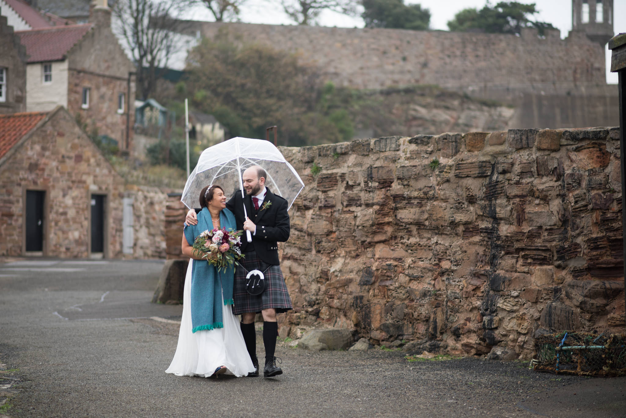 Caz and Martin's wedding at The Cow Shed, Crail - 19 October 2017 - © Photography by Juliebee