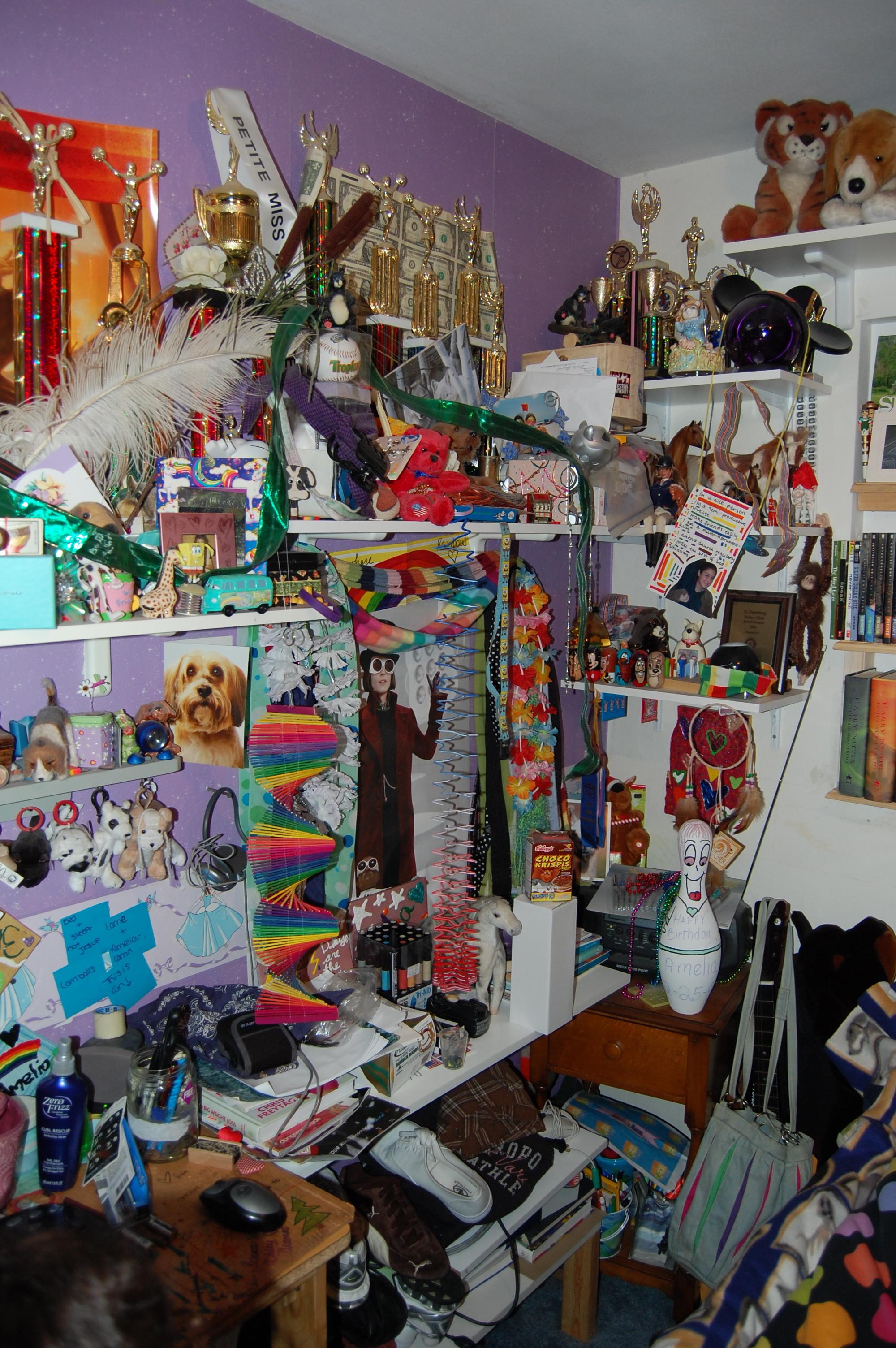 My childhood bedroom, circa 2007