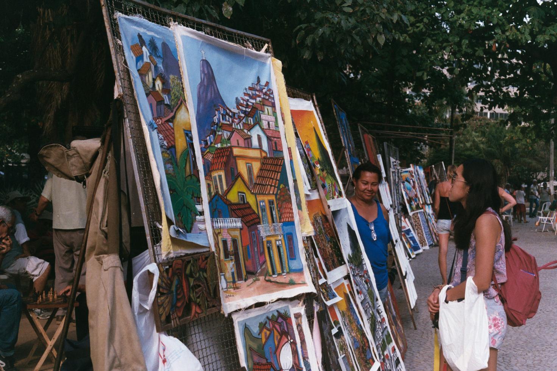 An art market in Ipanema