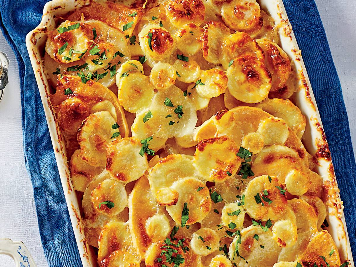 Root Vegetable Gratin, Souther Living