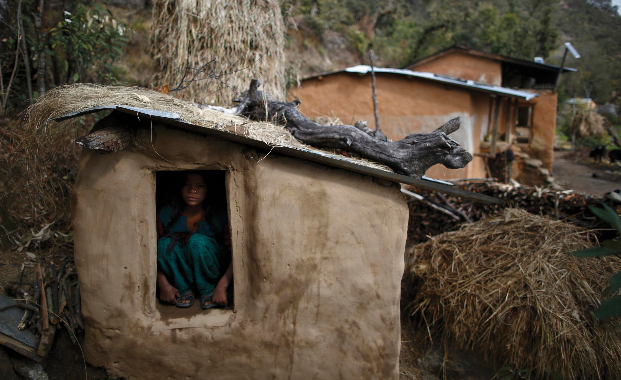 Image originally featured in  Nepal's bleeding shame  by Kate Hodal in The Guardian.
