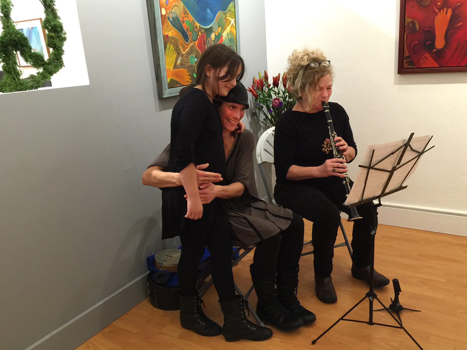 Ona, Diana Mangano and Beth Custer performing a song written by Ona called  Busy Busy Bee