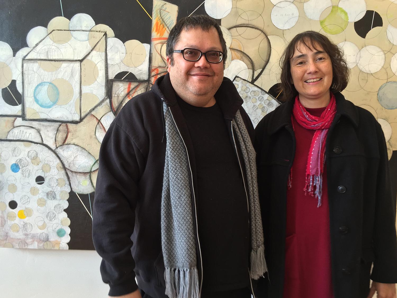 Gervasi and his wife Veronica Rojas in front of  Mi Espacio Favorito