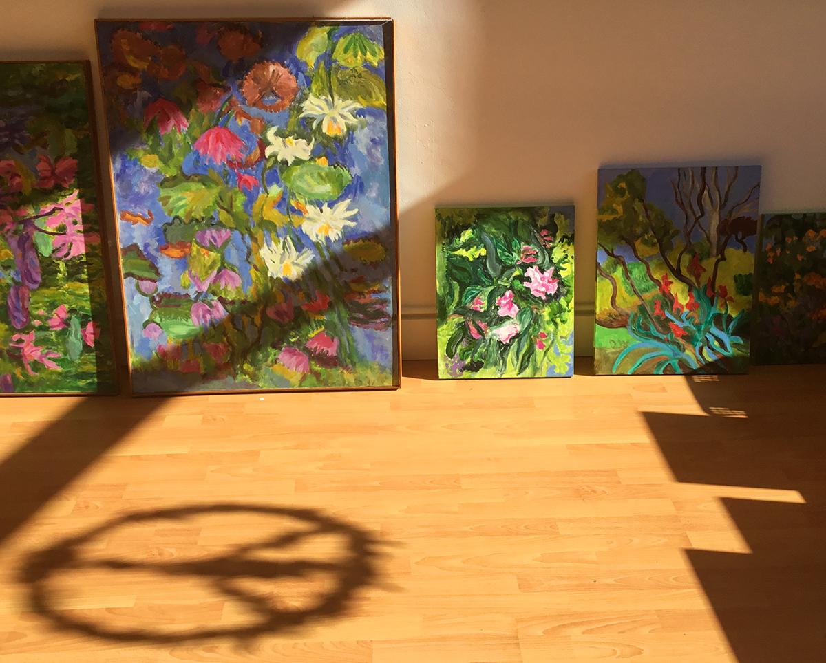 Dottie's flower paintings