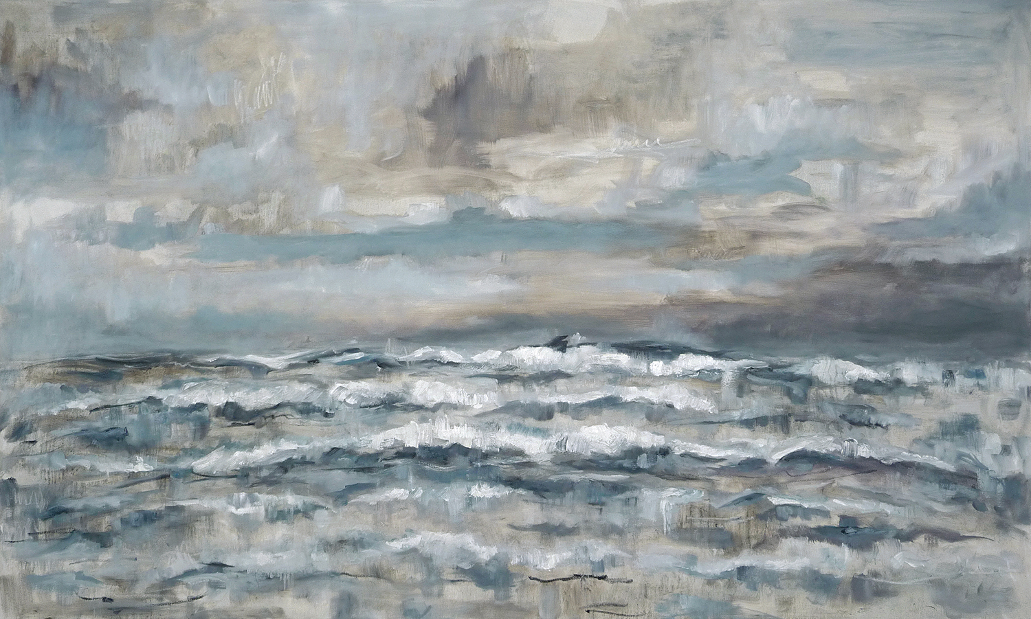 Seascape  oil on canvas. 48x80in 2017