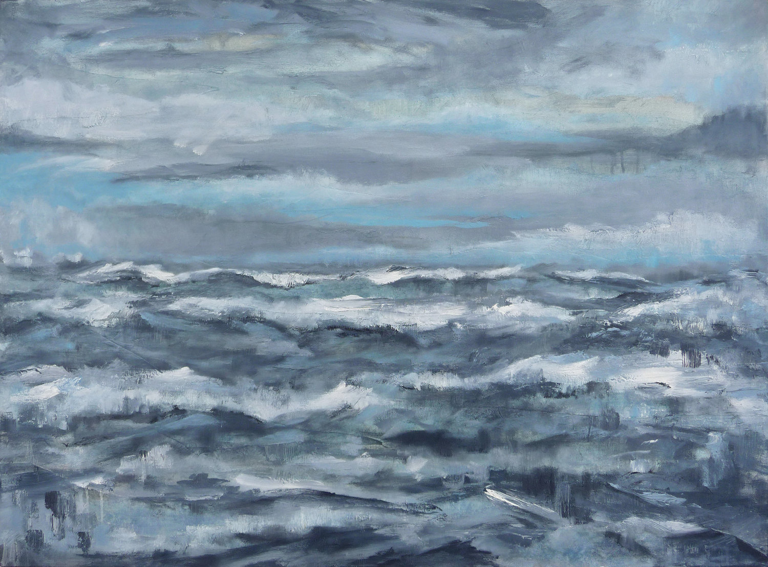 After the Storm II   ,  2018. Oil on canvas. 30 x 40 inches