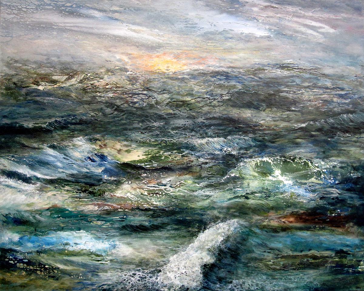 "Tides  48"" x 60"" acrylic on canvas 2019"