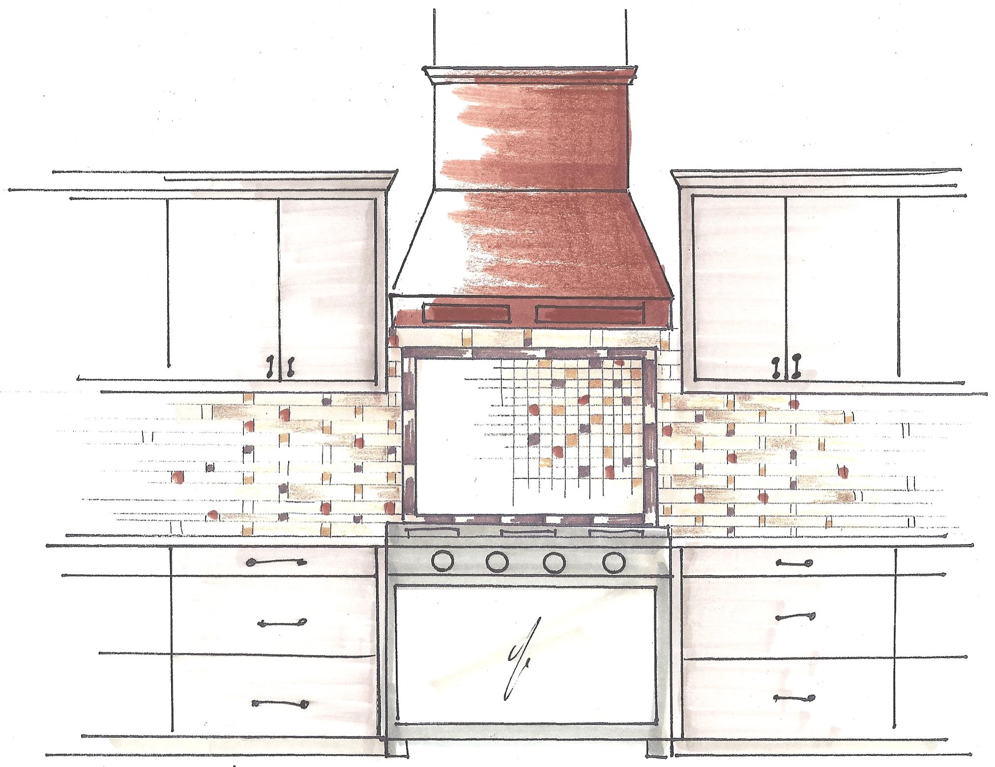 Backsplash Tile Sketch