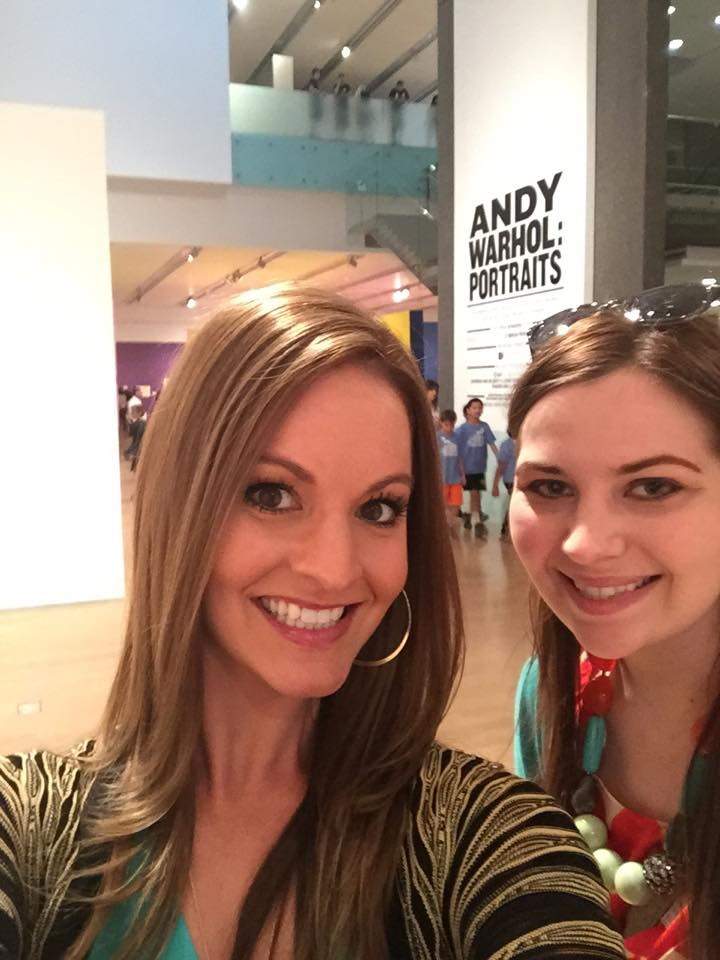 Andrea and Annie at the Phoenix Art Museum