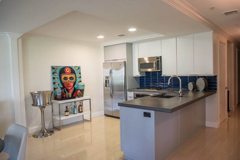 After: Modern Kitchen with Bold Artwork