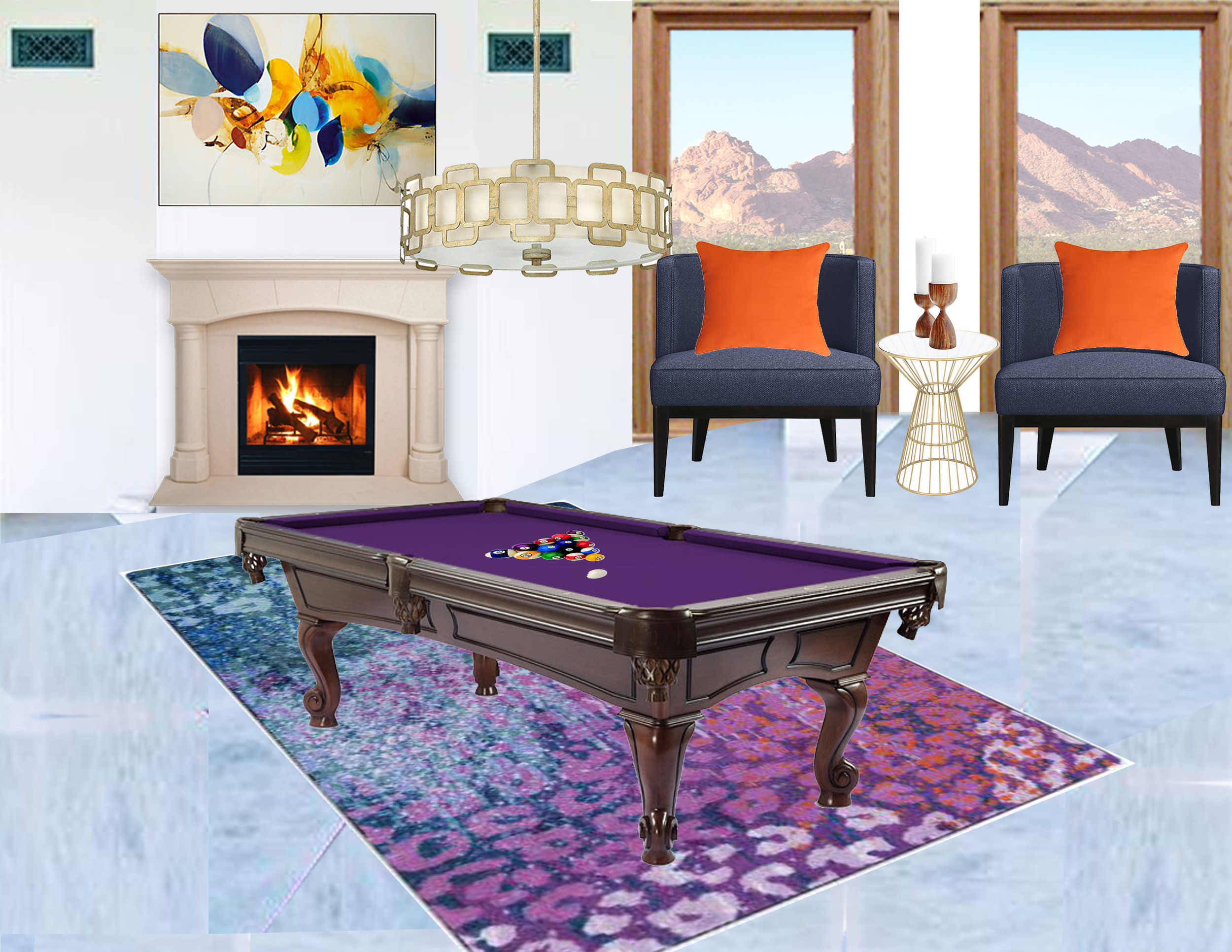 Pool Room, Design