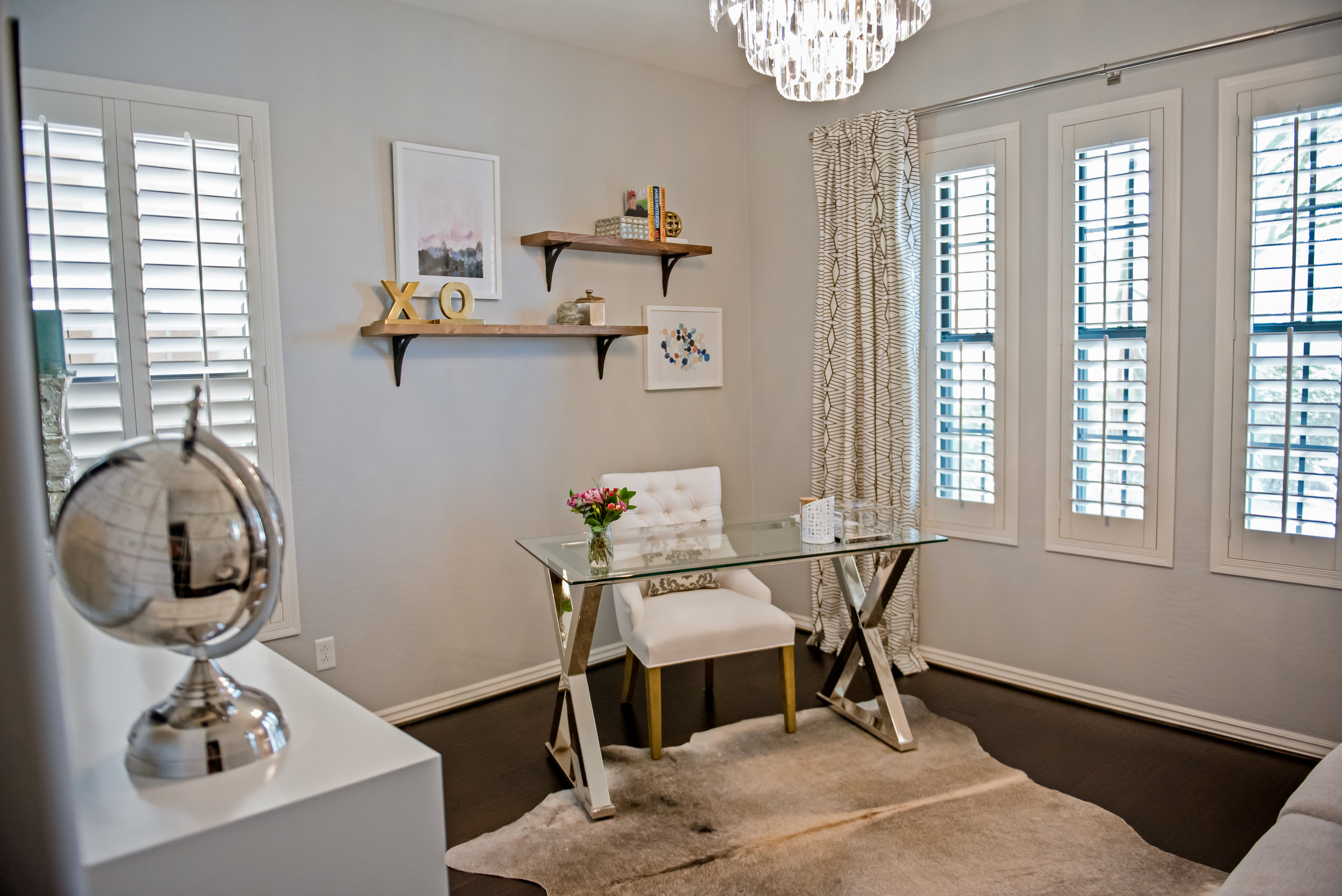 14 - Office+Cowhide-Chandelier+Scottsdale+FloatingShelves+Feminine.jpg