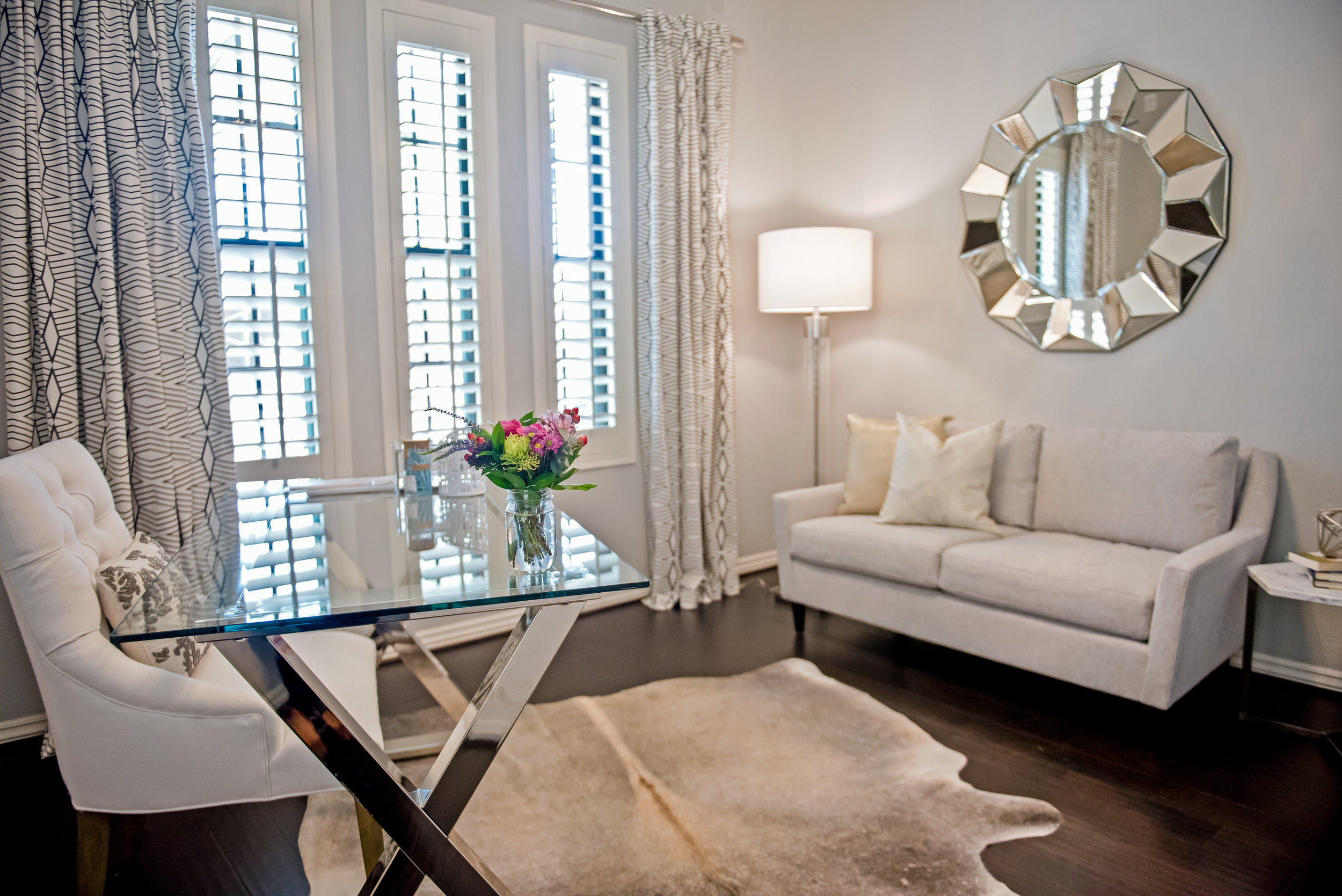 15 - Office+Cowhide-Chandelier+Scottsdale+FloatingShelves+Feminine.jpg