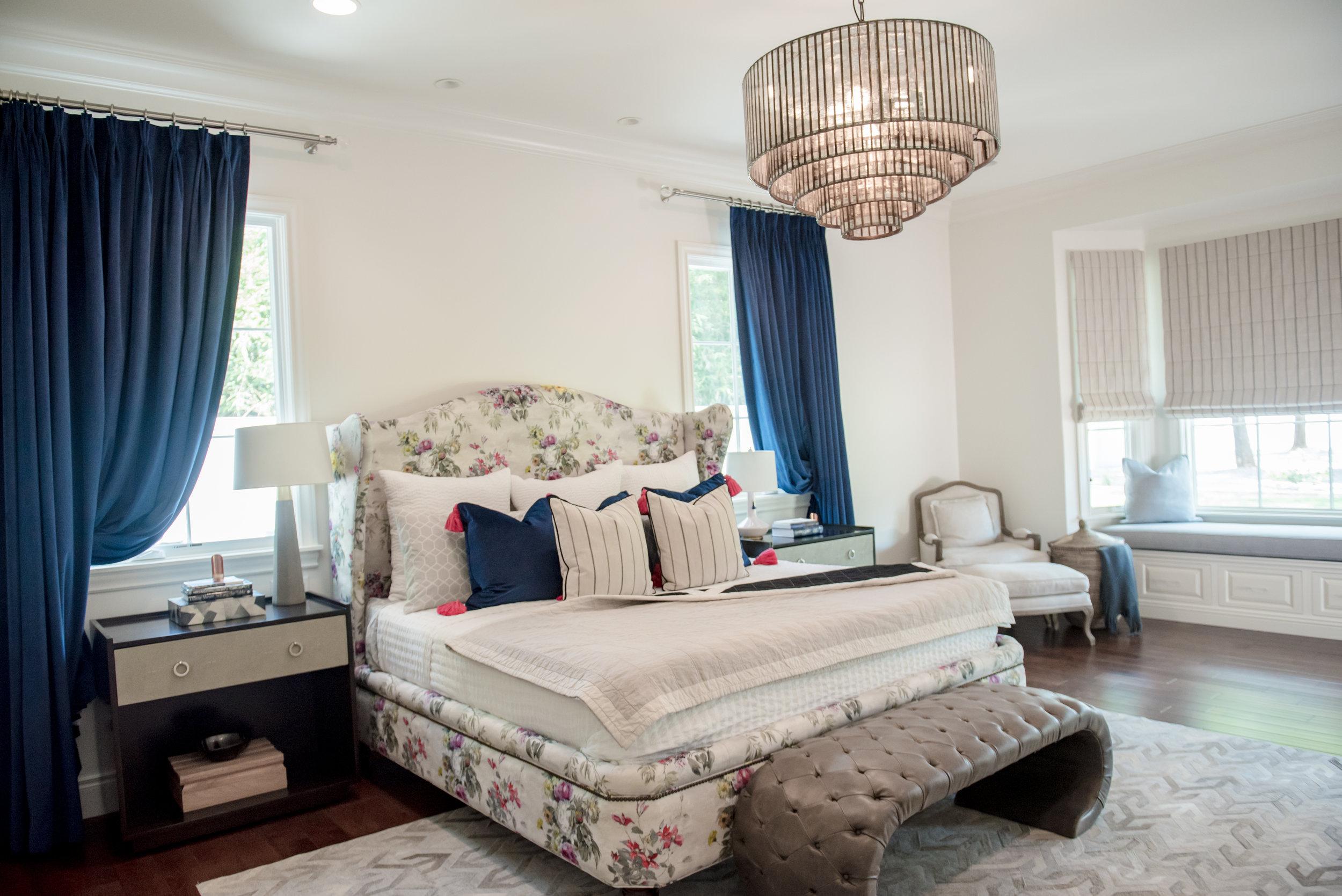 63+Master+Bedroom+Haironhide+Floral+Custom+Artwork+Leather+Tufting+Restorationhardware+Crystal.jpg